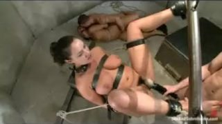 Gagged bound babes fucked in basement